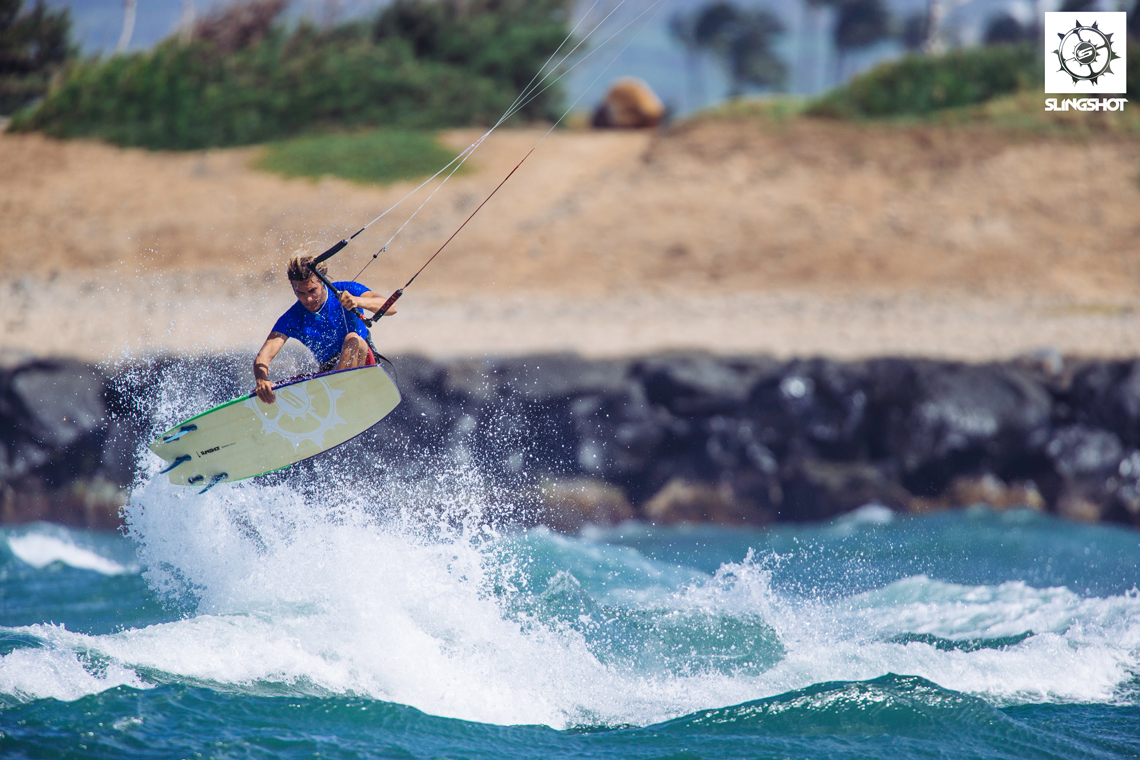 Patrick Rebstock on the 2015 Slingshot Angry Swallow kiteboard
