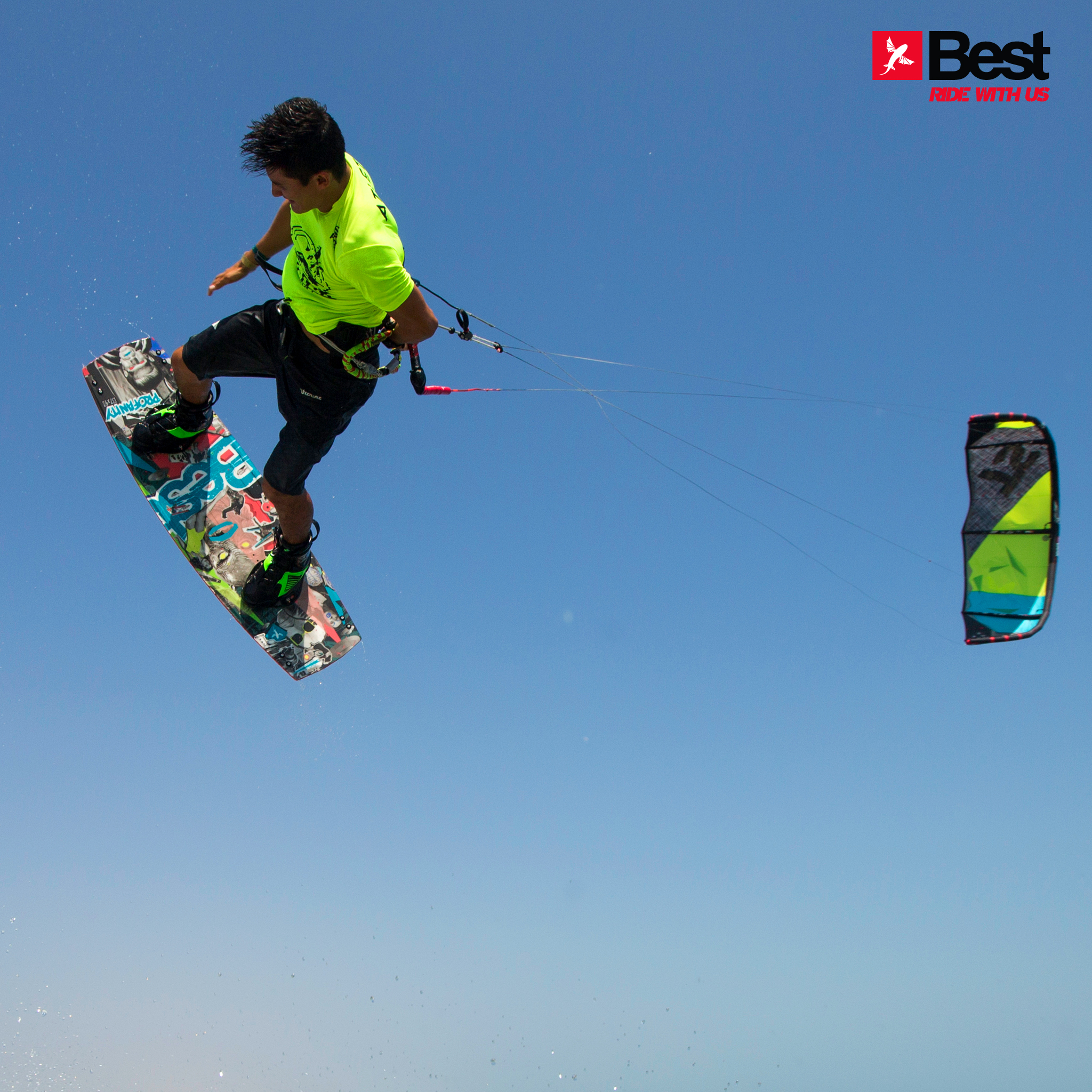 kitesurf wallpaper image - Alexandre Neto with a nice session back home in Brazil on the 2015 Best kiteboarding TS and Profanity board - kitesurfing - in resolution: iPad 2 & 3 2048 X 2048