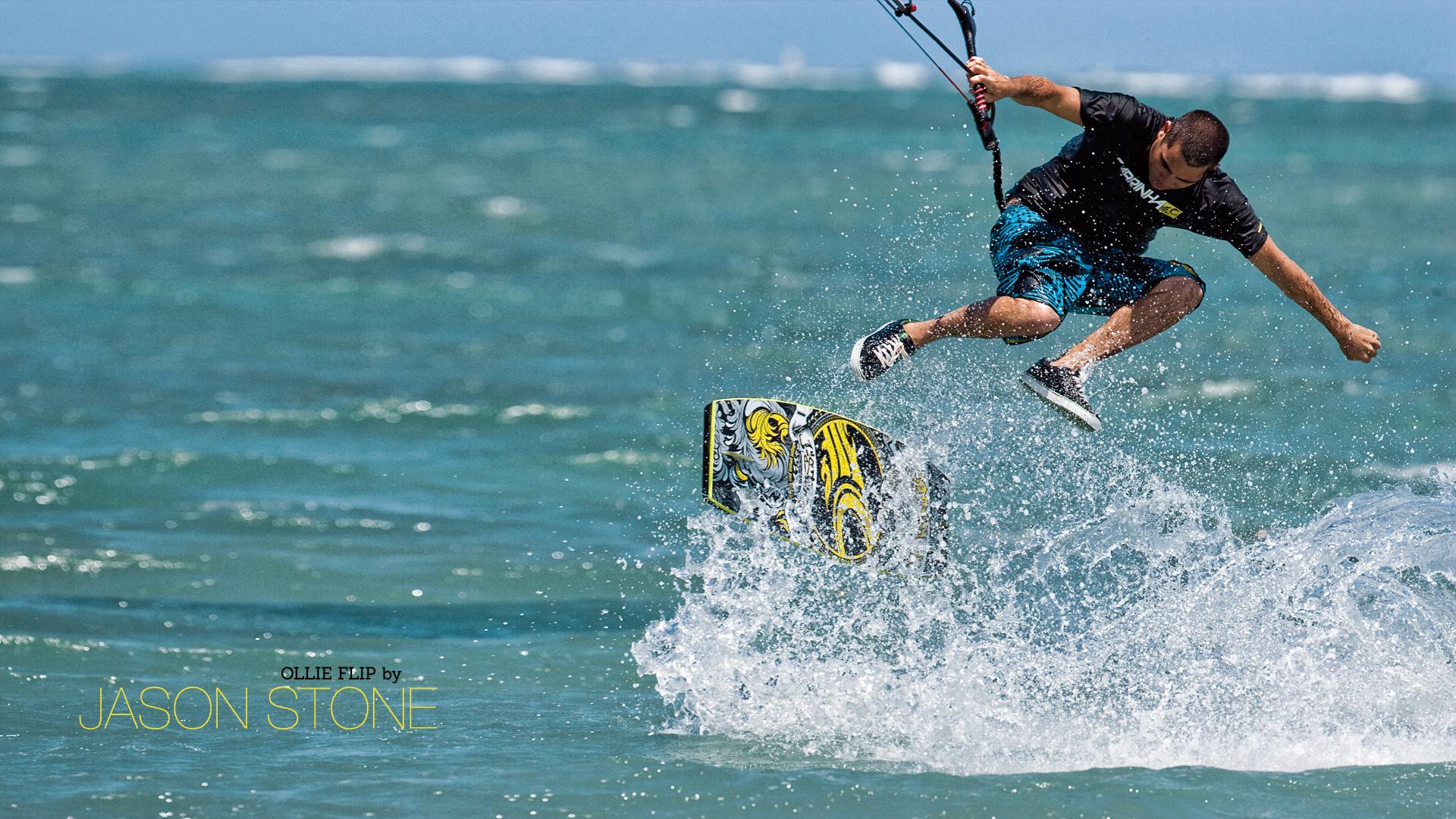 kitesurf wallpaper image - Jason on the wake skate - in resolution: High Definition - HD 16:9 1920 X 1080