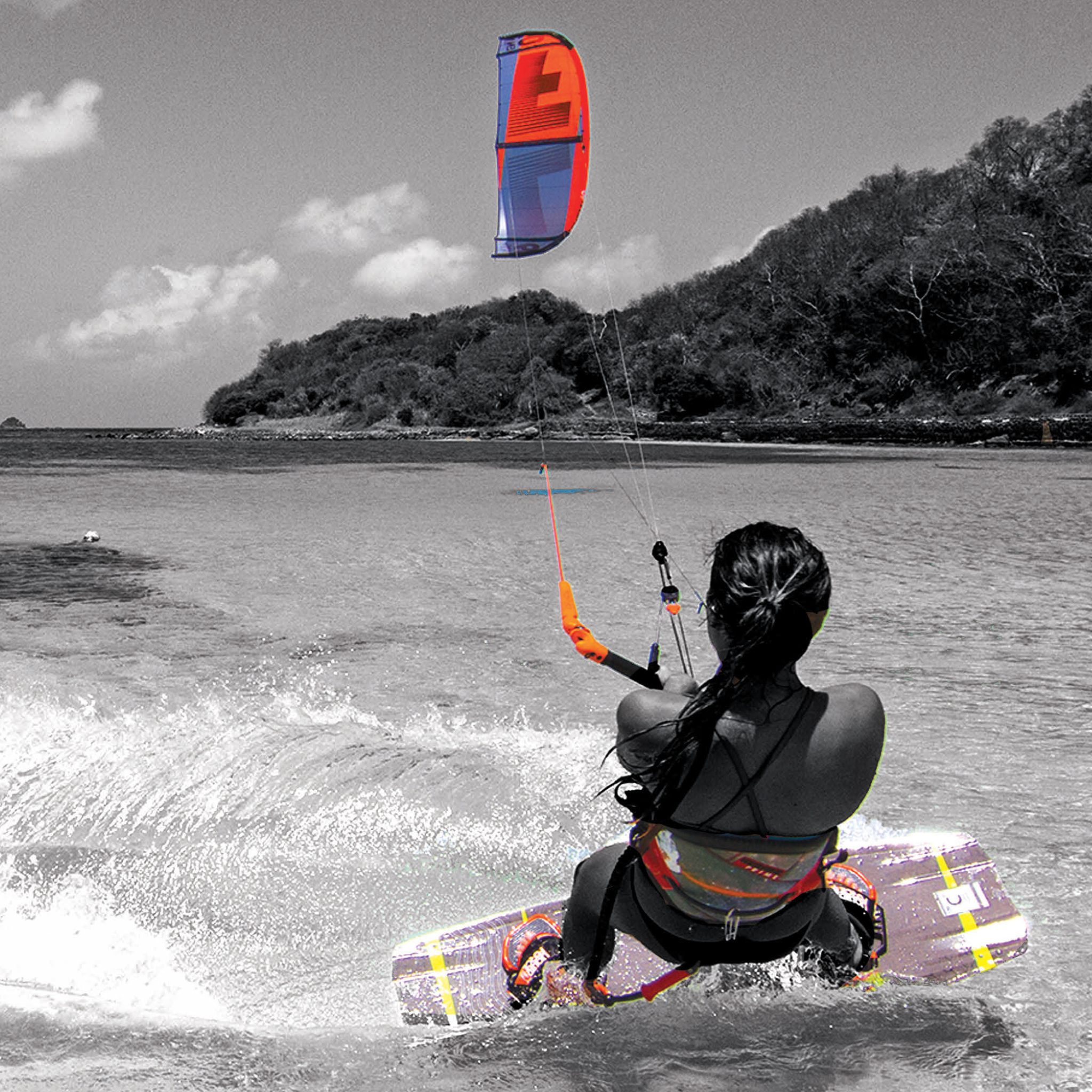 kitesurf wallpaper image - Sensi Graves with the 2015 Liquid Force Envy Kite and riding the carbon element kiteboard - in resolution: iPad 2 & 3 2048 X 2048
