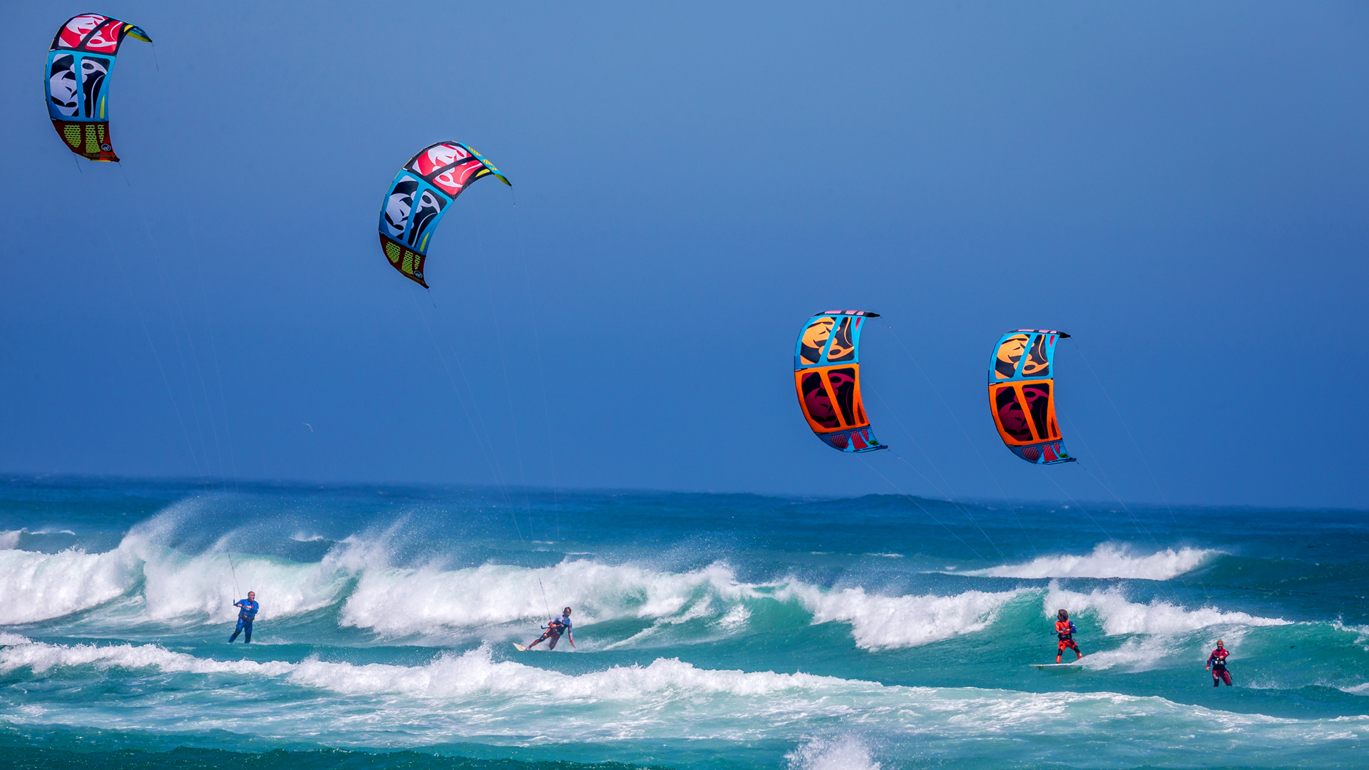 kitesurf wallpaper image - RRD squad taking over this wave on 2015 Religion kites - RRD Kiteboarding - in resolution: High Definition - HD 16:9 1920 X 1080