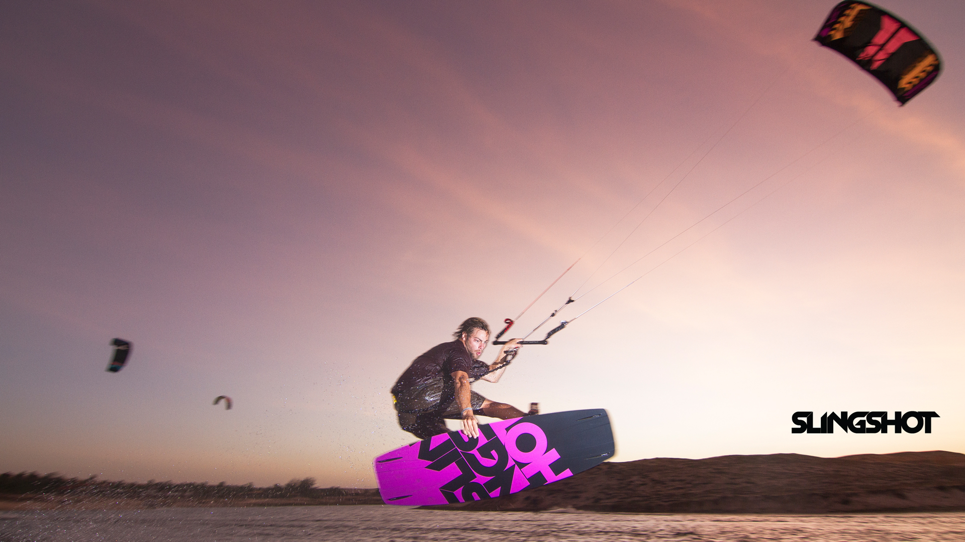 kitesurf wallpaper image - Grabbing some rail on the 2015 Slingshot Asylum board and flying the RPM kite. - in resolution: High Definition - HD 16:9 1920 X 1080