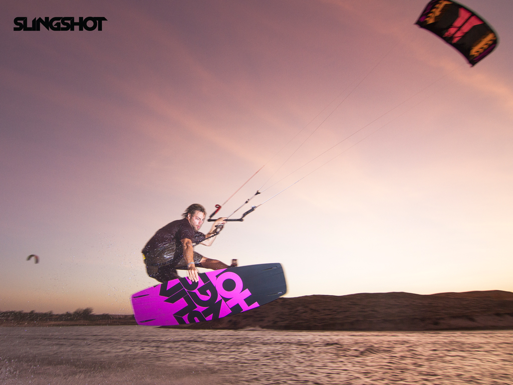 kitesurf wallpaper image - Grabbing some rail on the 2015 Slingshot Asylum board and flying the RPM kite. - in resolution: iPad 1 1024 X 768