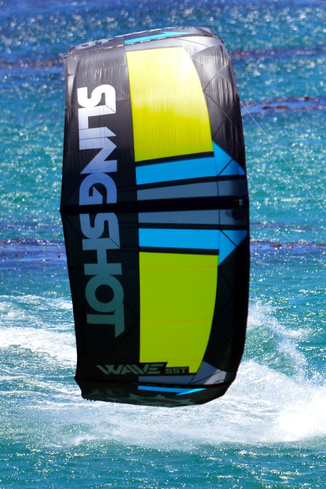 kitesurf wallpaper image - Kitesurfer Patrick Rebstock cruising on the 2016 Slingshot SST Wave kite.  - in resolution: iPhone 640 X 960