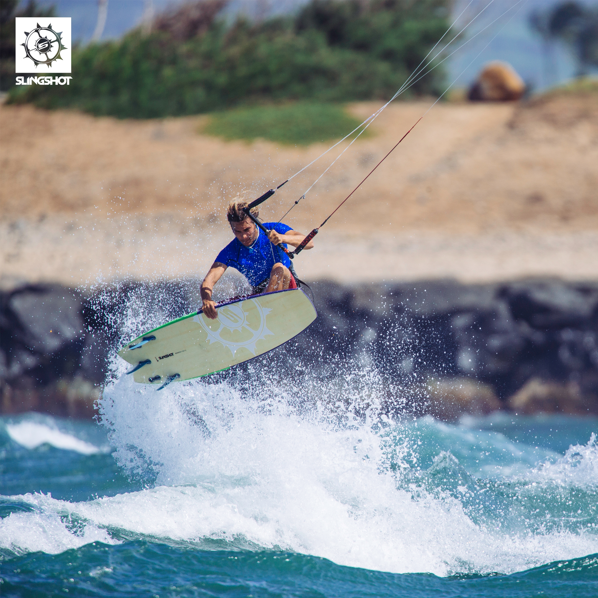 kitesurf wallpaper image - Patrick Rebstock on the 2015 Slingshot Angry Swallow kiteboard - in resolution: iPad 2 & 3 2048 X 2048