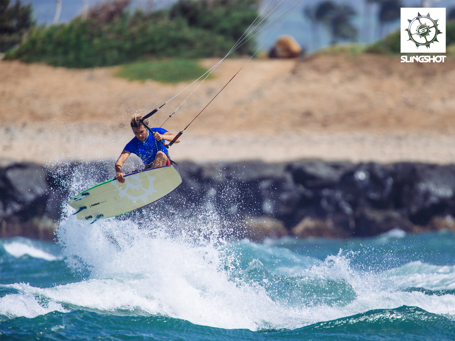 kitesurf wallpaper image - Patrick Rebstock on the 2015 Slingshot Angry Swallow kiteboard - in resolution: Standard 4:3 1920 X 1440