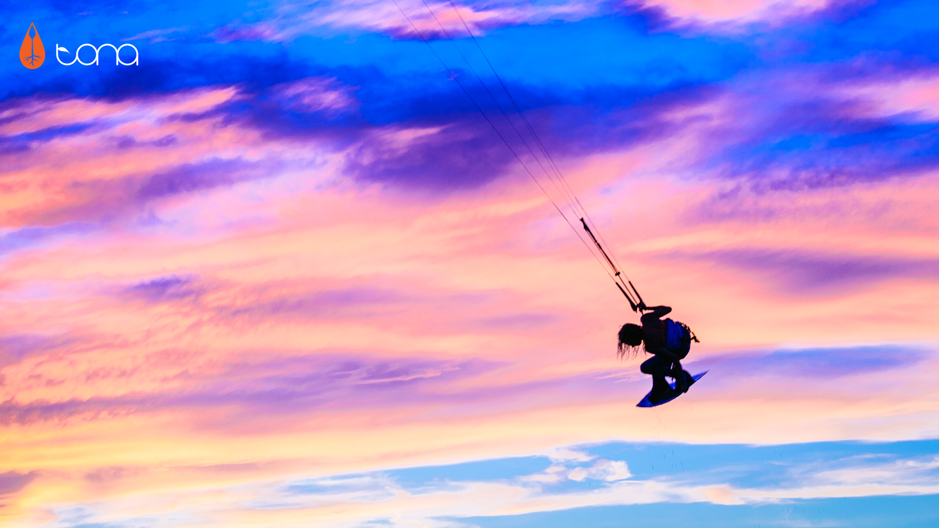 kitesurf wallpaper image - Indie grab at sunset with Tona Boards - kitesurfing - in resolution: High Definition - HD 16:9 1920 X 1080