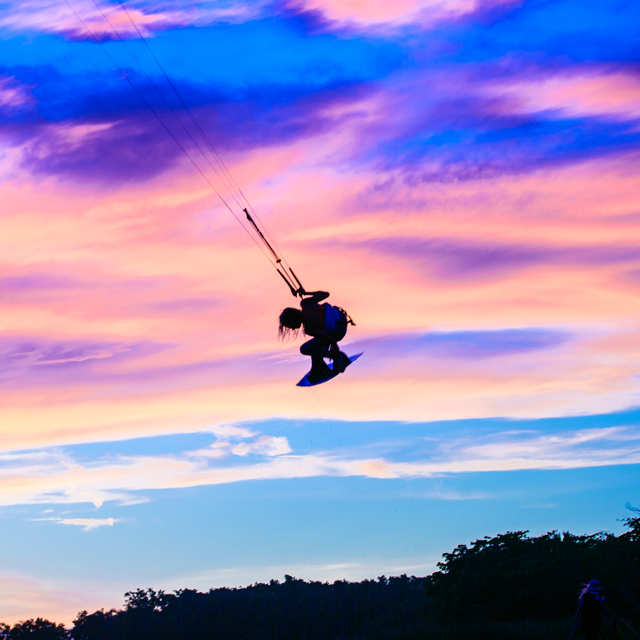 kitesurf wallpaper image - Indie grab at sunset with Tona Boards - kitesurfing - in resolution: iPad 2 & 3 2048 X 2048