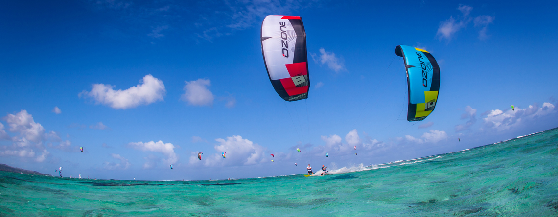 Freeride kitesurfing photo