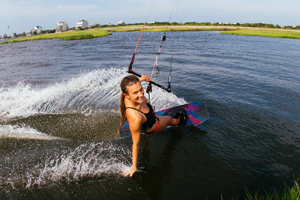Cruising along the grass with the 2015 Best Kiteboarding TS kite