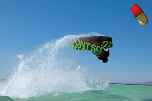 The 2015 North Vegas and team series board on holiday in the tropics - kitesurfing